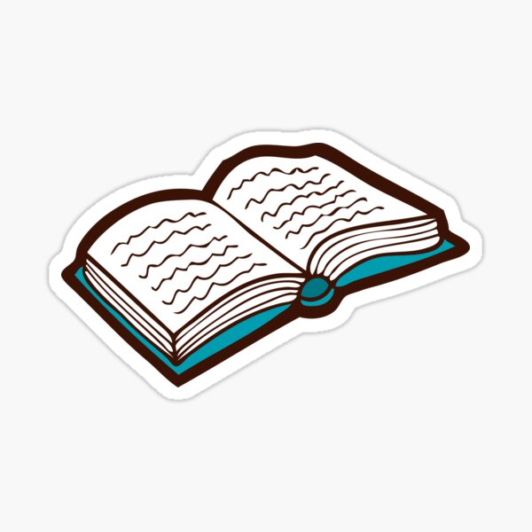 Bookish Reading Pattern in Red Sticker