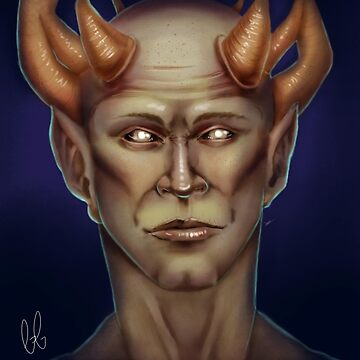 Crowned Demon Digital Painting by georgiagoddard