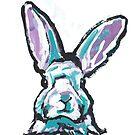 «Fun Bunny Rabbit brillante colorido Pop Art» de bentnotbroken11