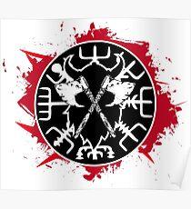 Blutiger Kompass Vegvisir Poster