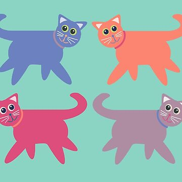 4 Colorful Cats by jgevans