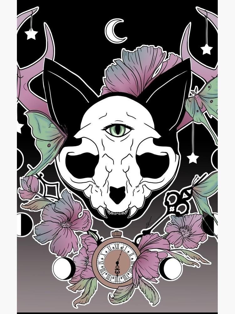 Twilight -- Skull Cat by BiancaLoran