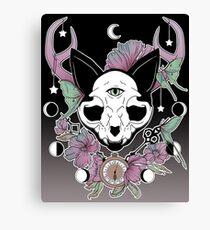 Twilight -- Skull Cat Canvas Print