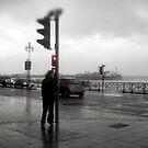 Storm Warning on Brighton Beach by John Dalkin