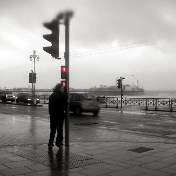Storm Warning on Brighton Beach by JohnDalkin