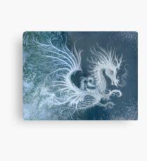Frost Dragon Metal Print
