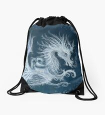Frost Dragon Drawstring Bag