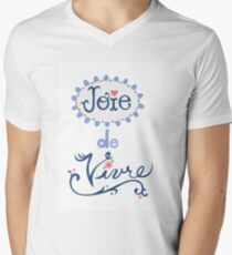 joie de vivre Men's V-Neck T-Shirt