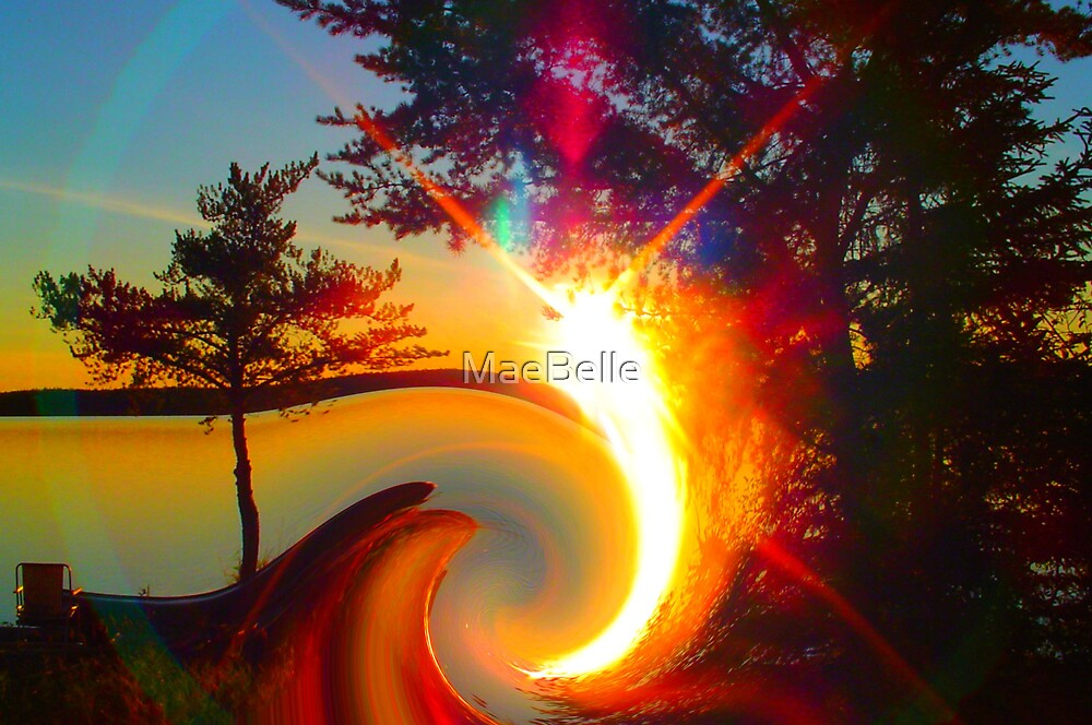Sunset With a Twist by MaeBelle