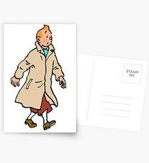 Tintin walking Postcards