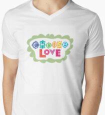 choose love Men's V-Neck T-Shirt