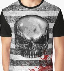 blood stained skull Graphic T-Shirt