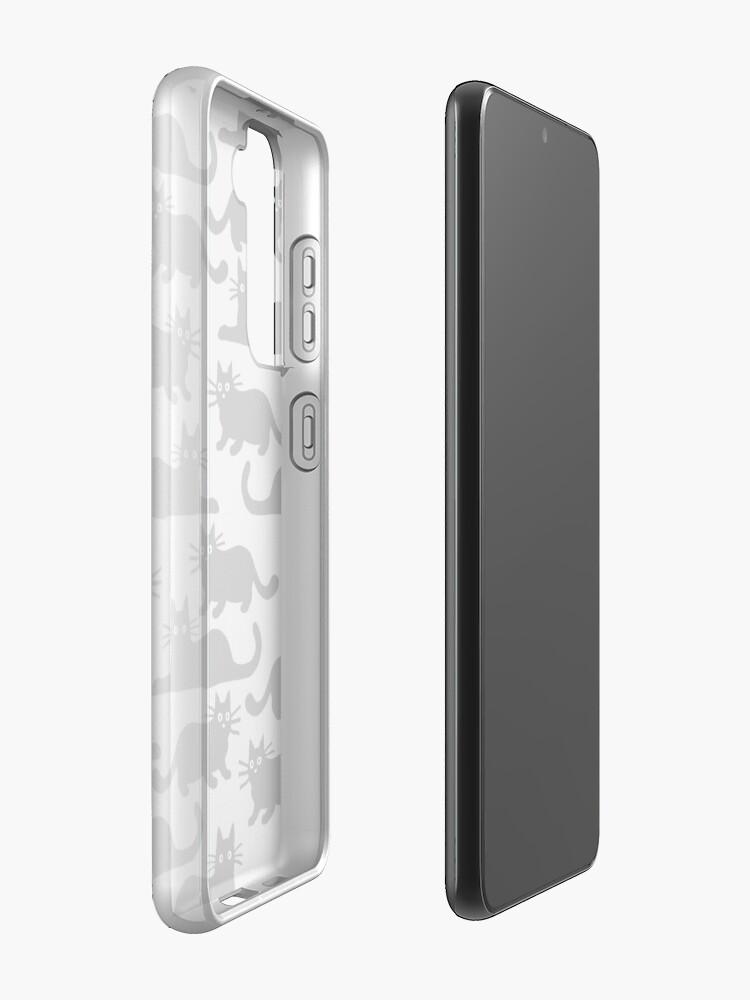 Alternate view of Black Cat Case & Skin for Samsung Galaxy