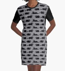 Black Cat Graphic T-Shirt Dress