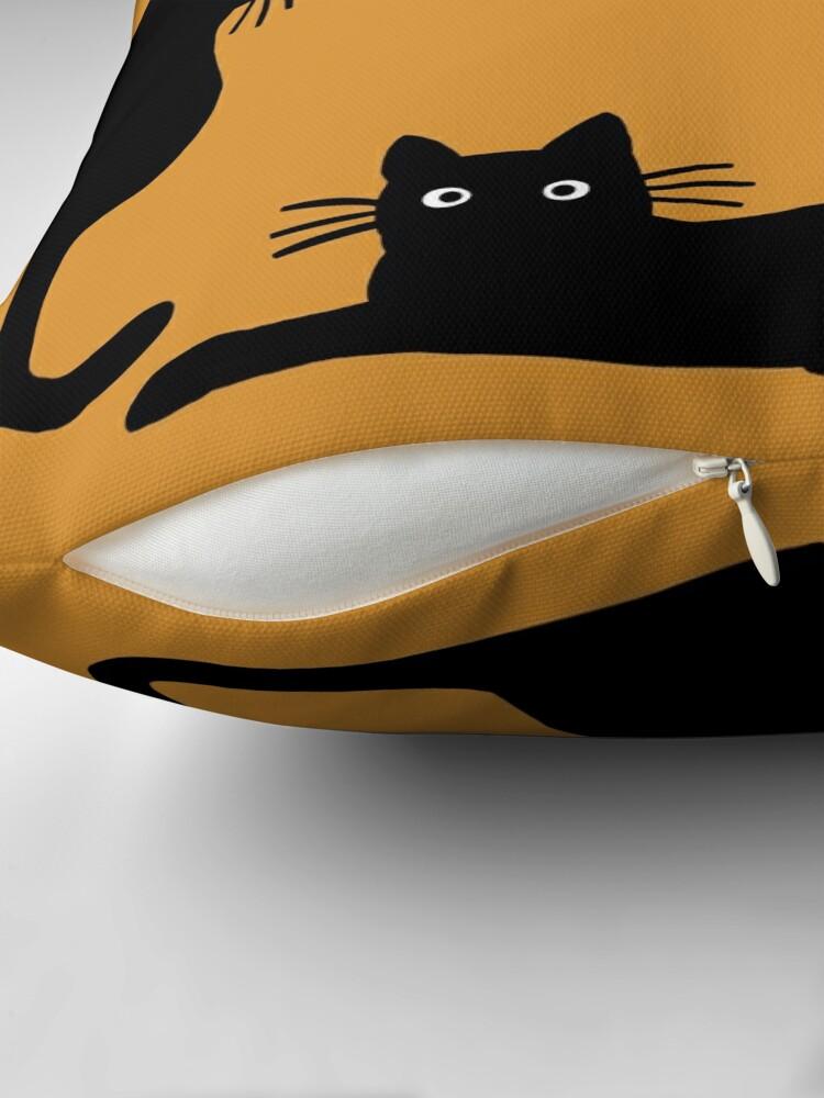 Alternate view of Black Cat Throw Pillow