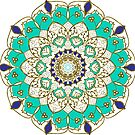 Gold and Blue Mandala by Juliet Chase