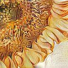 Redreaming Deep Dreamed Sunflower. by WENDY BANDURSKI-MILLER