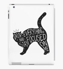 Drop Everything Salem The Cat Quote Graphic iPad Case/Skin