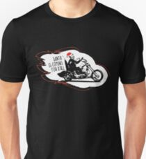 Skeleton Santa Biker is Coming Unisex T-Shirt