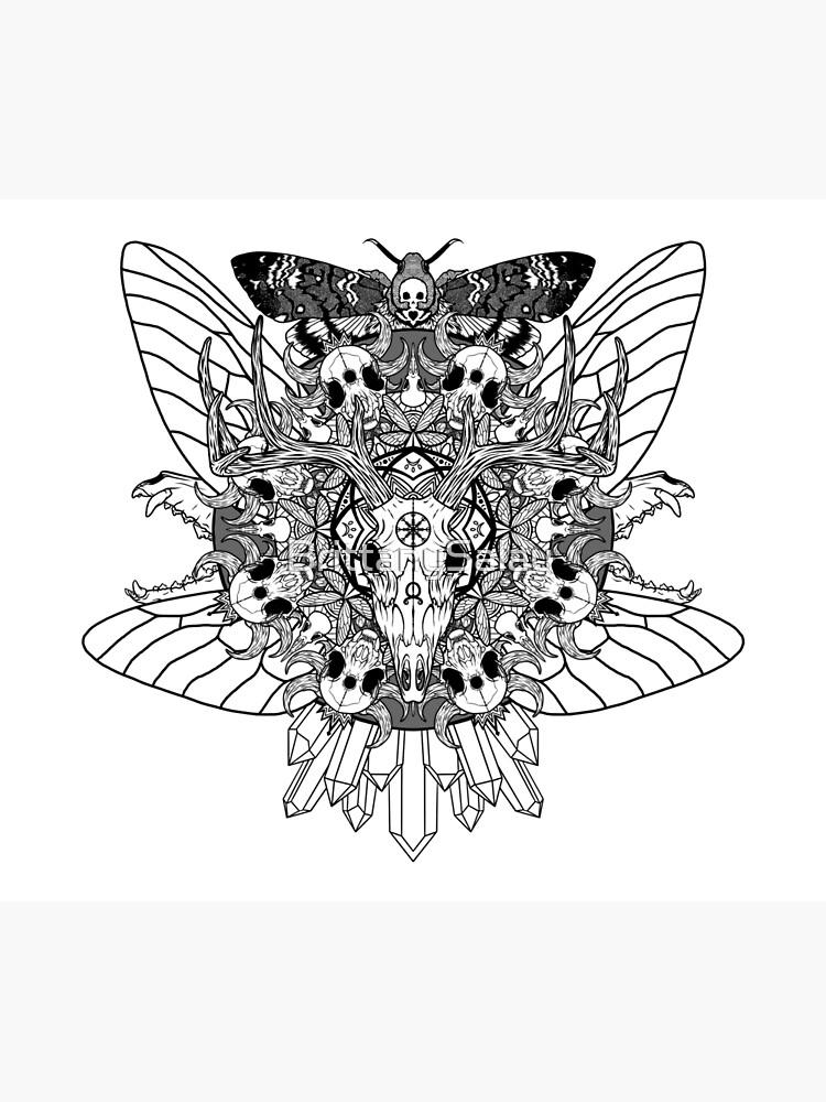 Animal Skull Mandala by BrittanySalay