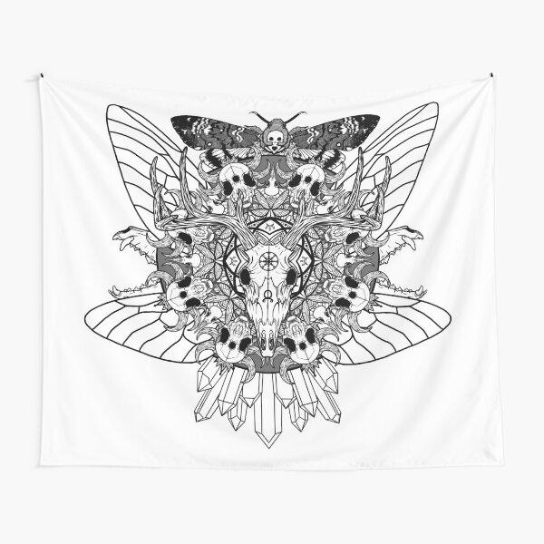 Animal Skull Mandala Tapestry