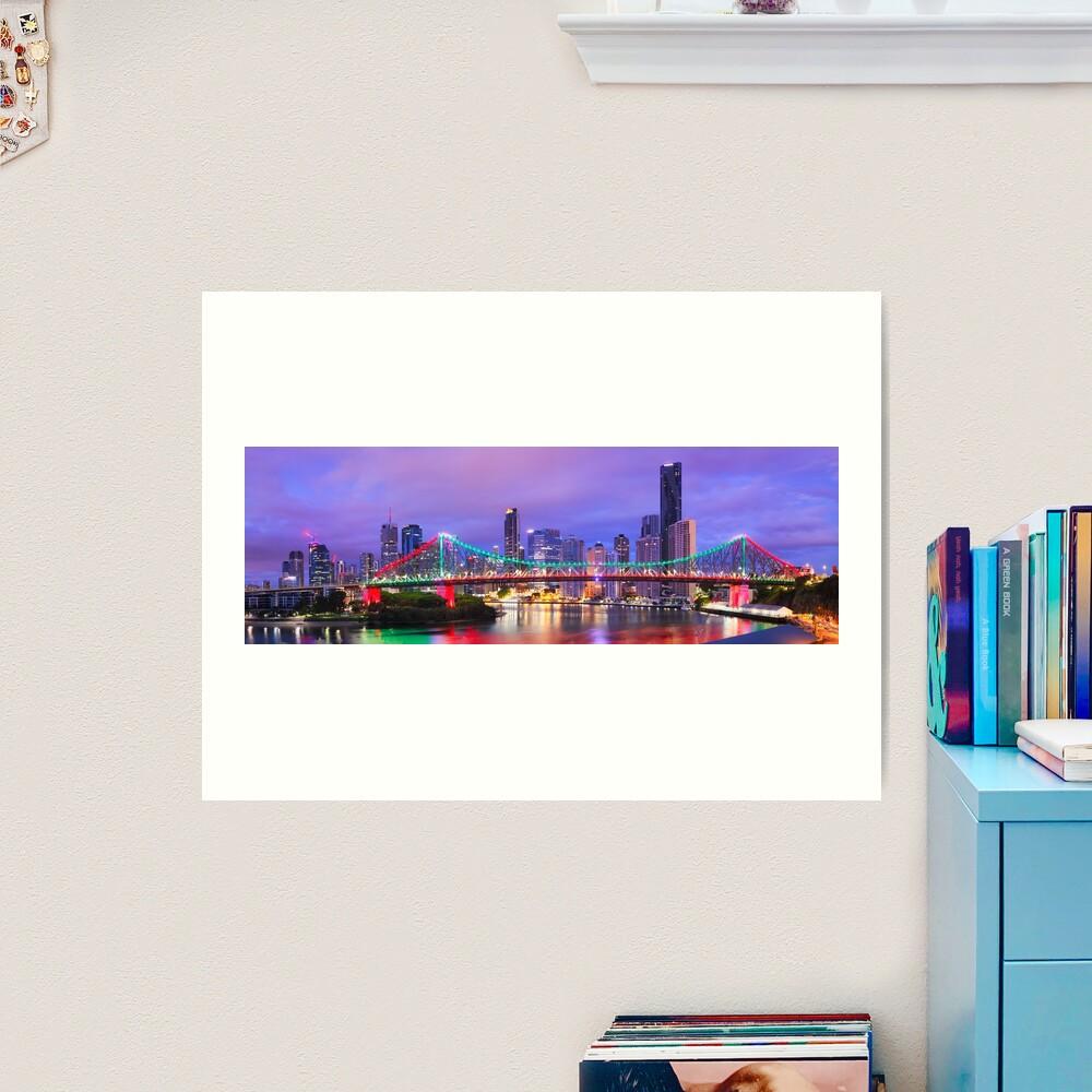 Colourful Story Bridge, Brisbane, Queensland, Australia Art Print