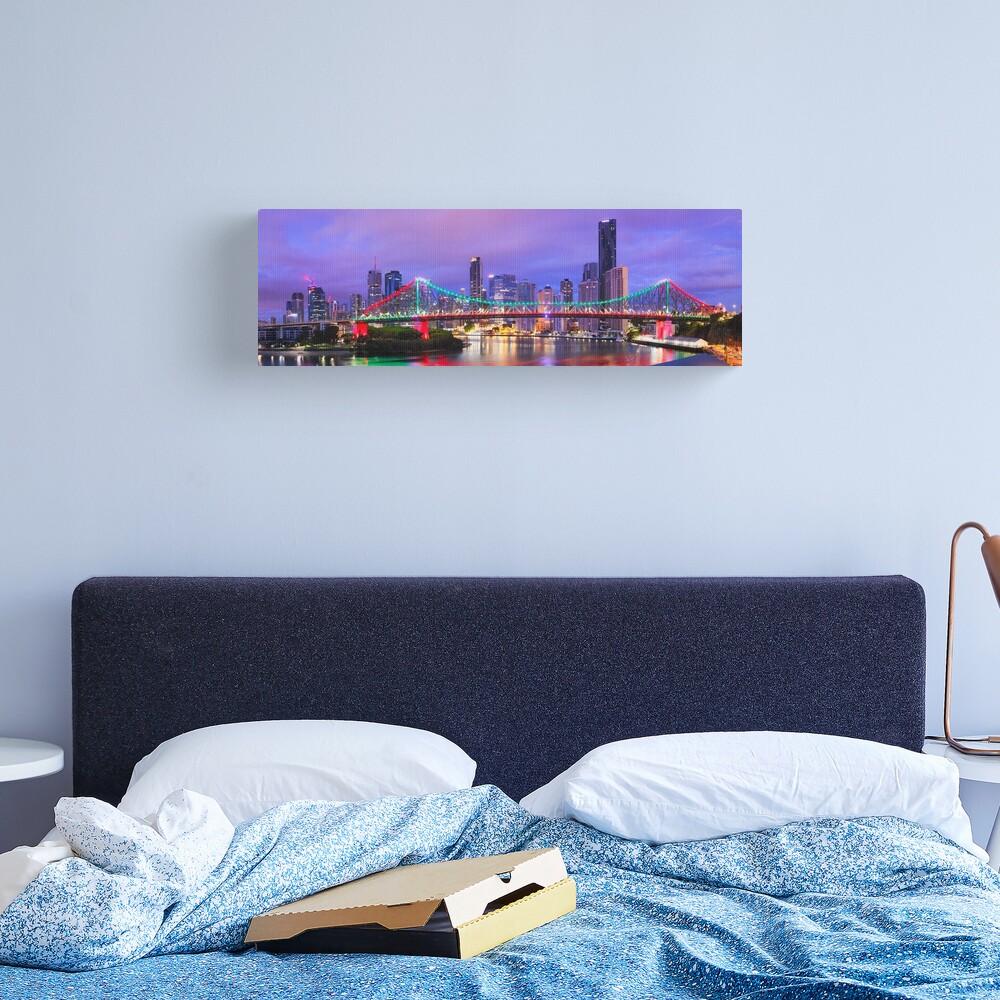 Colourful Story Bridge, Brisbane, Queensland, Australia Canvas Print