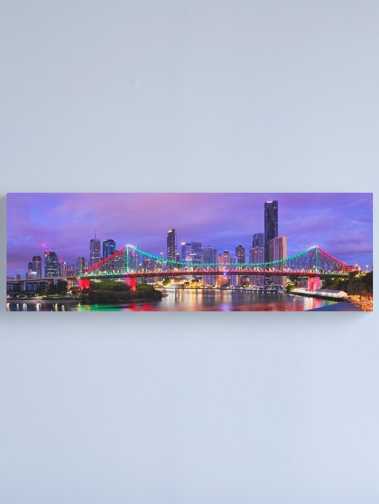 Alternate view of Colourful Story Bridge, Brisbane, Queensland, Australia Canvas Print