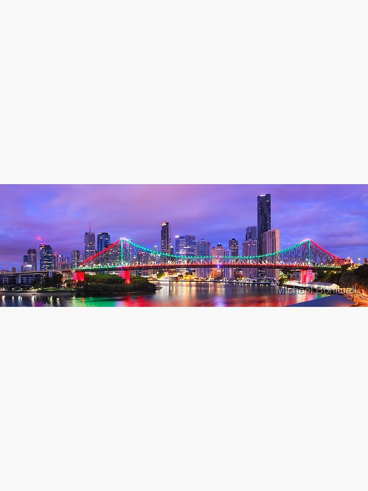 Colourful Story Bridge, Brisbane, Queensland, Australia by Chockstone