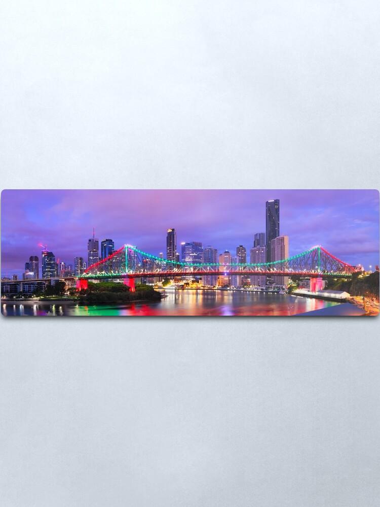 Alternate view of Colourful Story Bridge, Brisbane, Queensland, Australia Metal Print