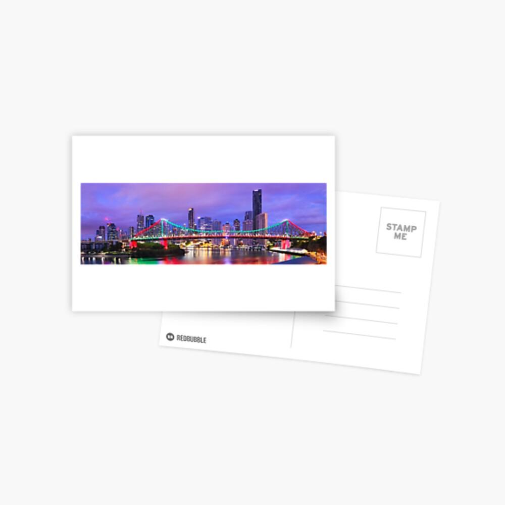 Colourful Story Bridge, Brisbane, Queensland, Australia Postcard