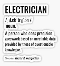 Electrician Definition Sticker