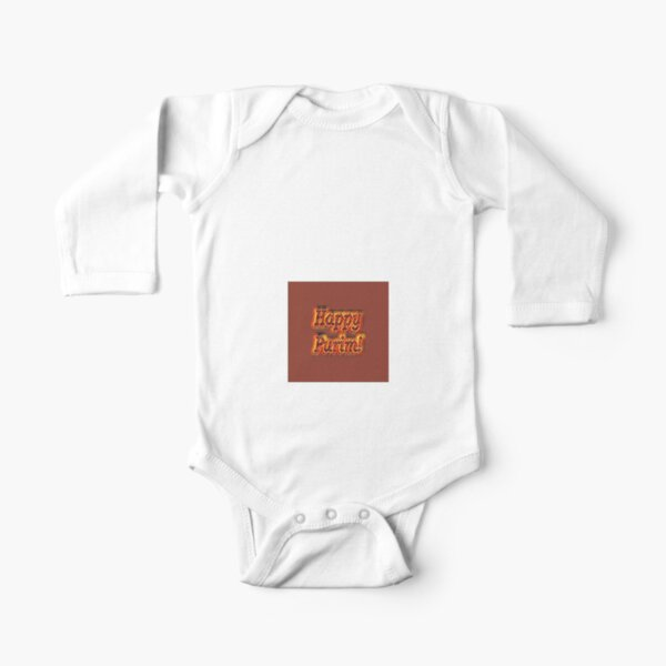 Happy Purim! Long Sleeve Baby One-Piece