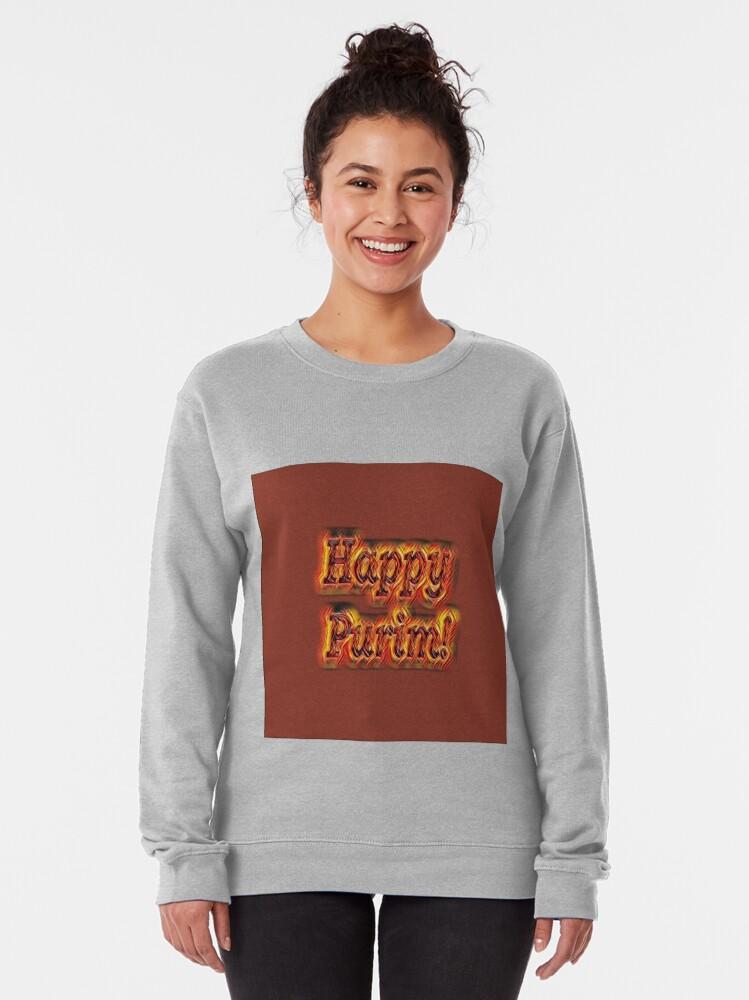 Alternate view of Happy Purim! Pullover Sweatshirt