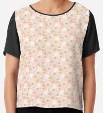 Tiny Pink Flowers Chiffon Top
