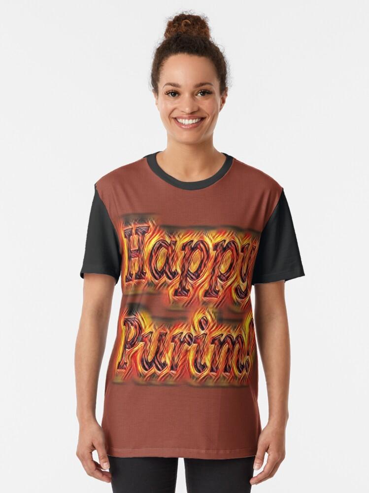Alternate view of Happy Purim! Graphic T-Shirt
