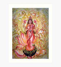 Lakshmi Darshnam Art Print
