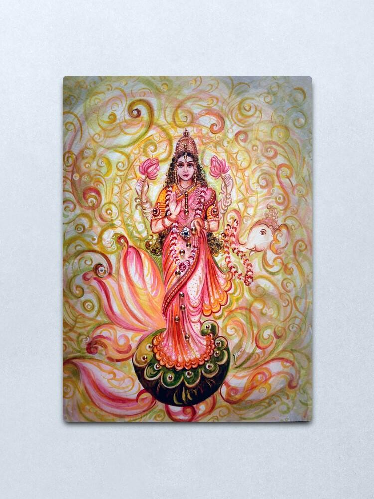 Alternate view of Lakshmi Darshnam Metal Print