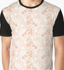 Pastel pink Tropicals Graphic T-Shirt