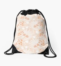 Pastel pink Tropicals Drawstring Bag