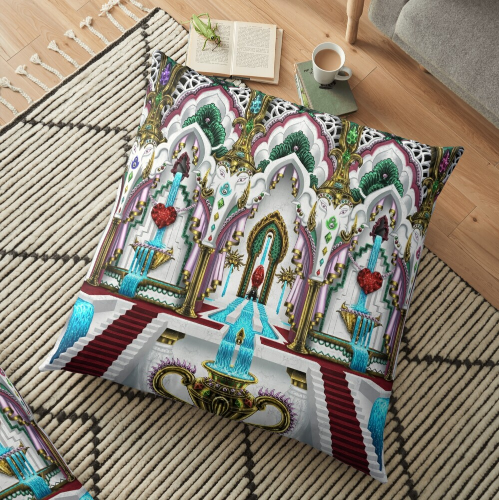 Palace of Ganesha Floor Pillow