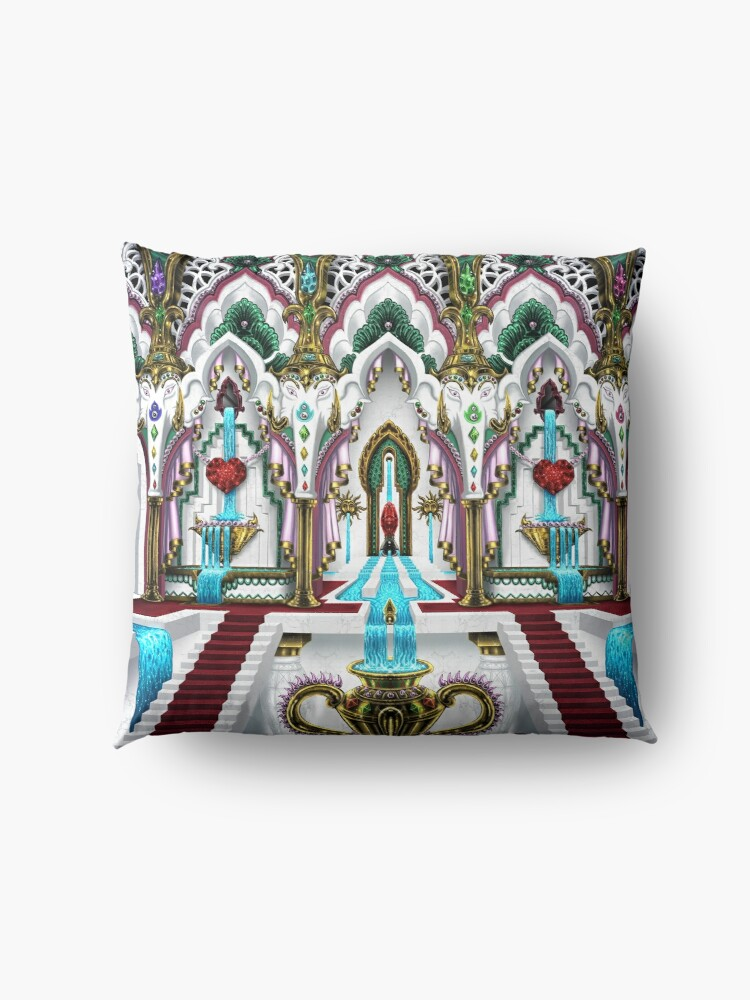 Alternate view of Palace of Ganesha Floor Pillow