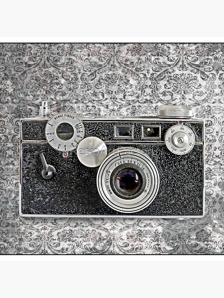 Argus Camera - Vintage Black and White by RetroArtFactory