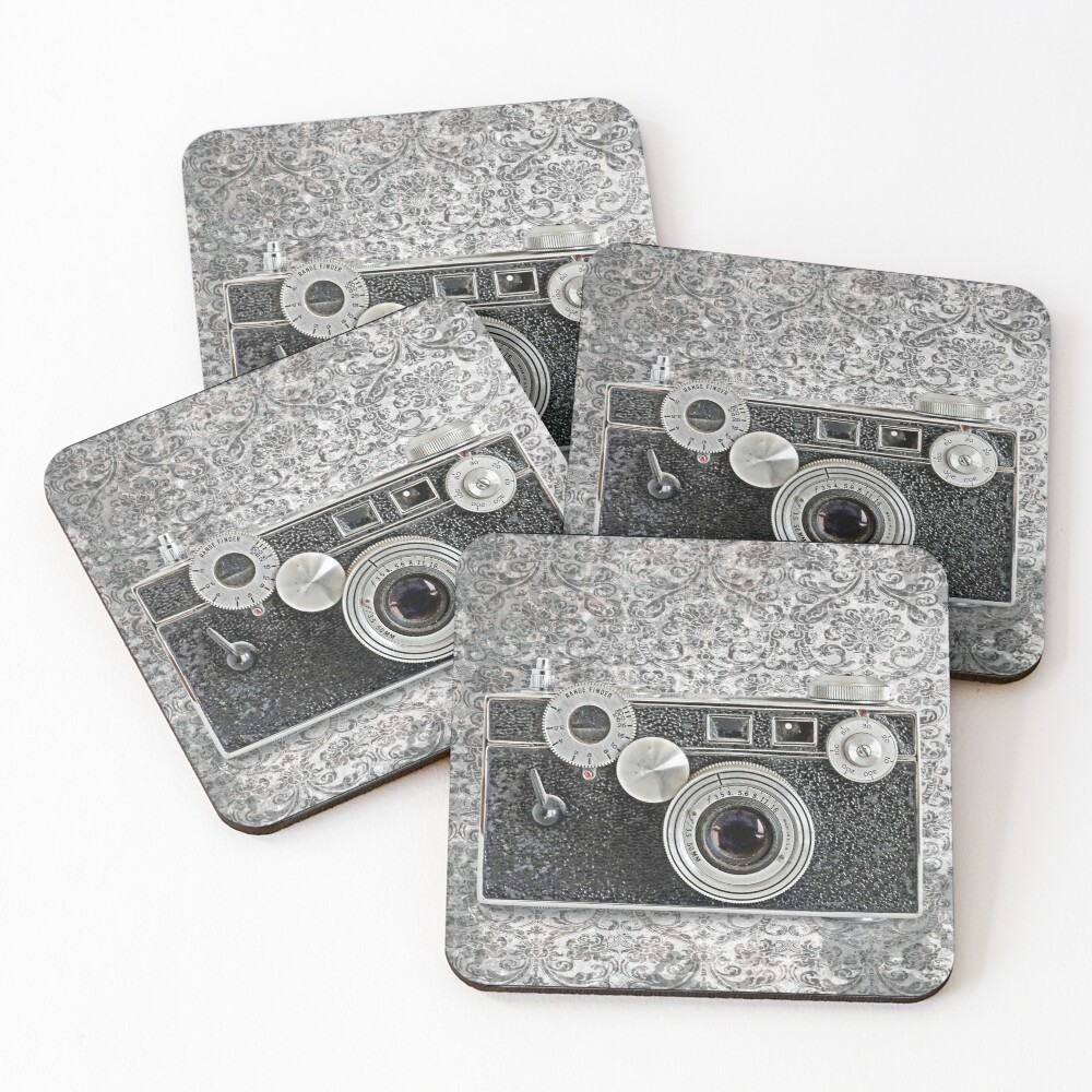 Argus Camera - Vintage Black and White Coasters (Set of 4)