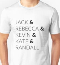 Pearson Family - This is Us Black Unisex T-Shirt