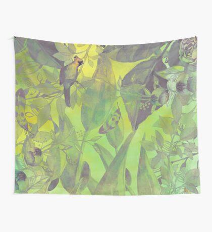 flowers pattern green #flowers #flora #pattern Wall Tapestry