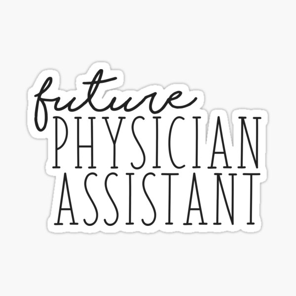 Thin Future Physician Assistant Sticker