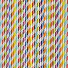 Colorful paper straws by Adam Nixon
