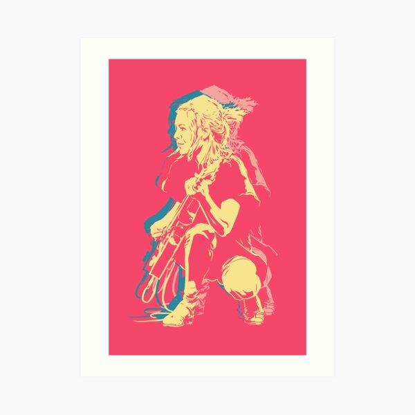 Tina Weymouth (Talking Heads, Tom Tom Club) Art Print