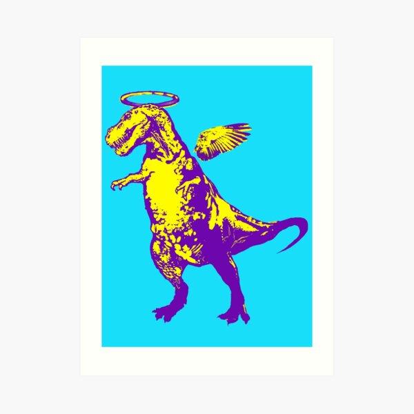 Angel Rex (purple and yellow) Art Print